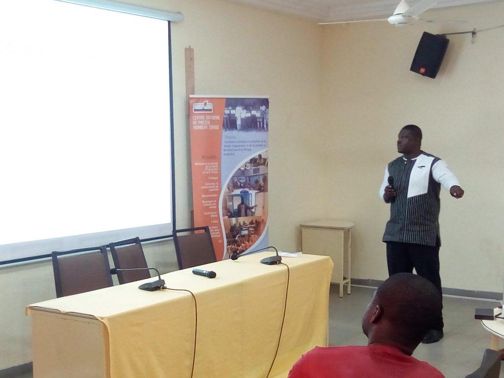 L'expert Mahamoudou Savadogo le 30 août 2021 au Centre national de presse Norbert Zongo